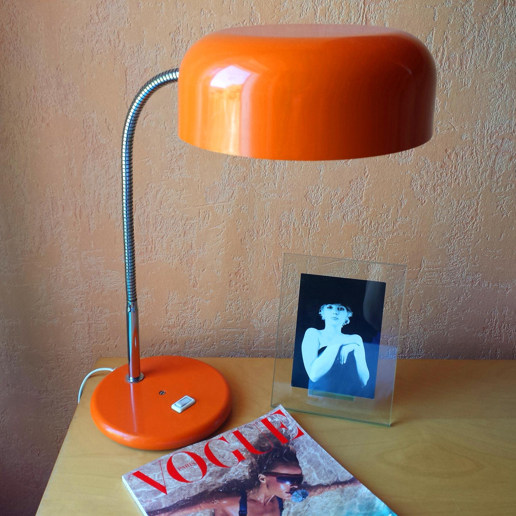 Lampe orange 70s