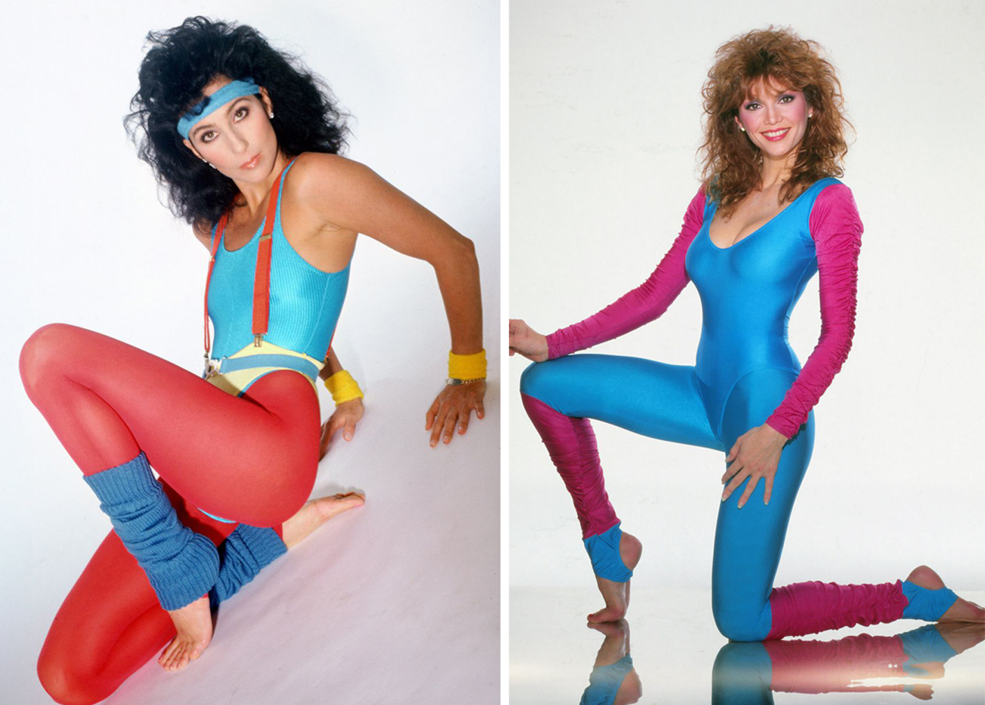 Color-blocking fitness 80s