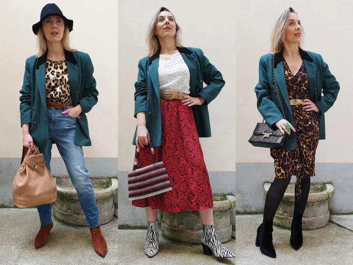 Un blazer vintage, troislooks
