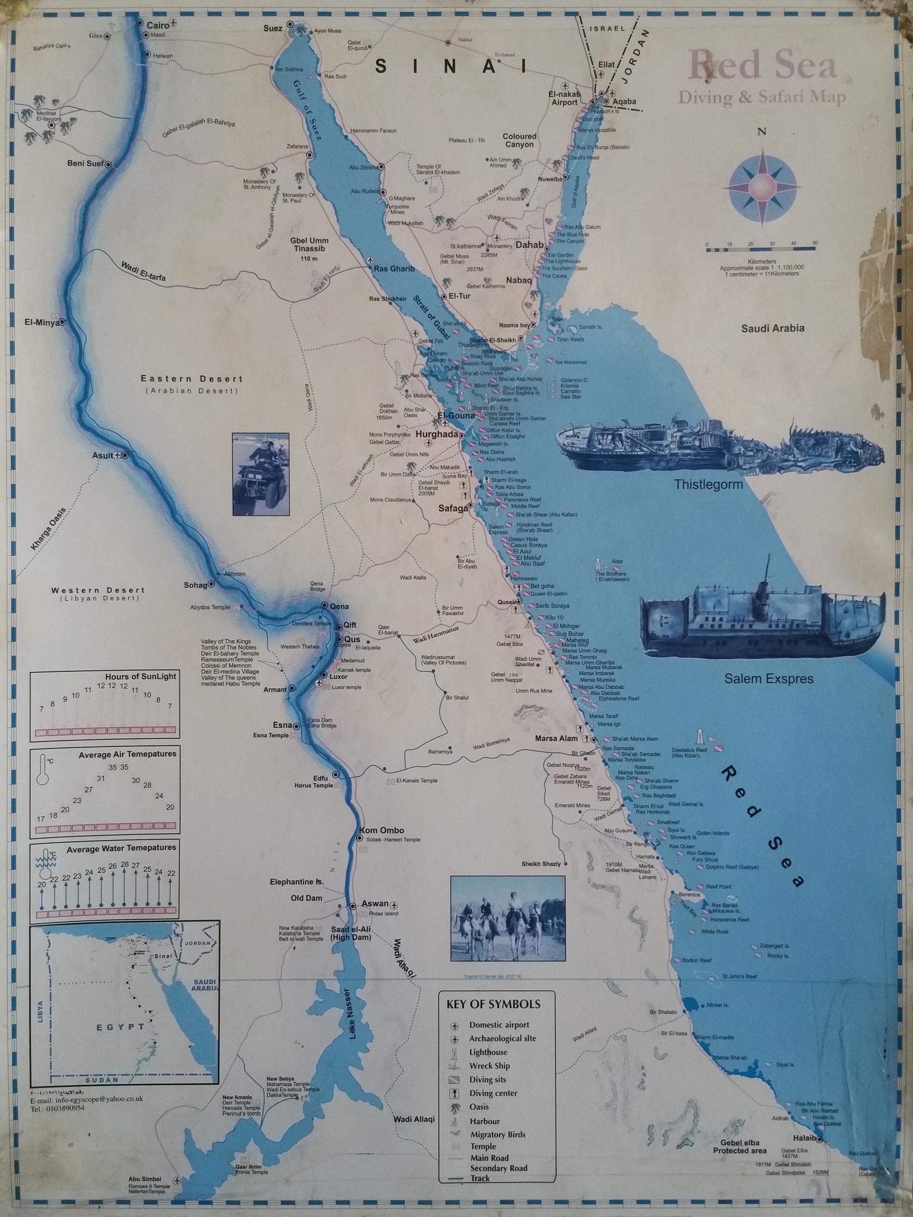 L'Egypte et la Mer Rouge