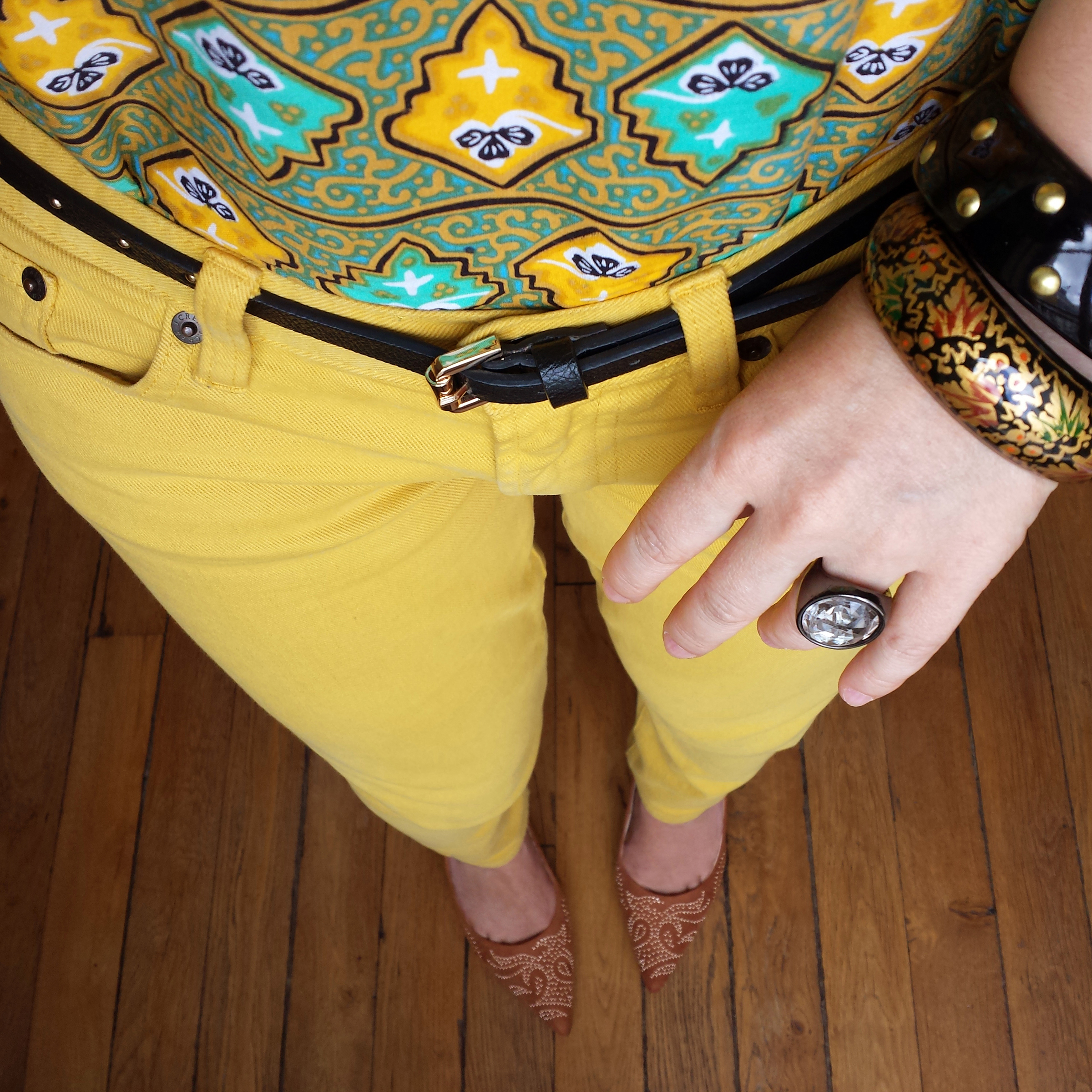 Jaune poussin & batik (2)