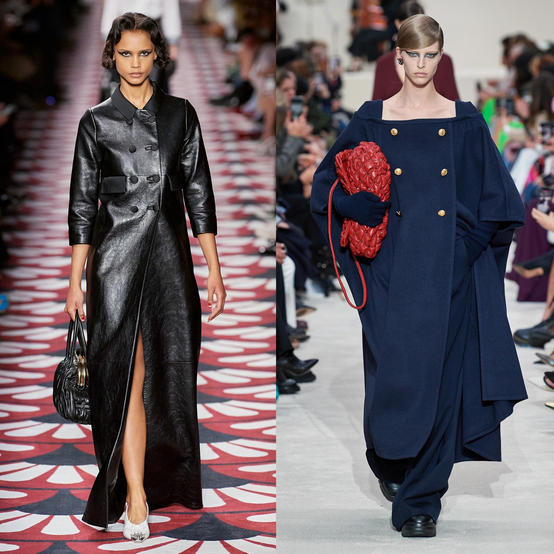 Cuir noir & maxi manteau