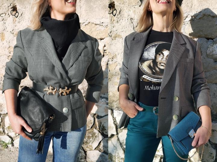Un blazer vintage, deuxstyles