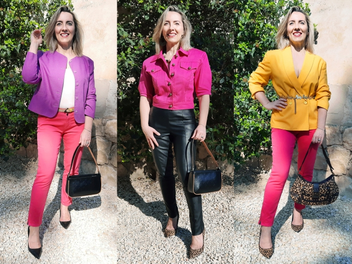 Trois tenues bicolores enrose