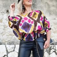 En blouse ikat pour prolonger l'été